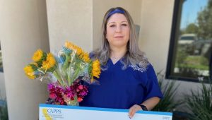 CAPPS Awards HDMC Student Novella Velarde with the Marsha Fuerst Memorial Scholarship